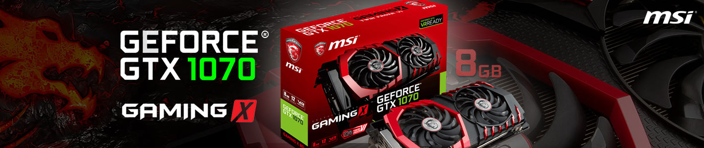 nVidia MSI GTX 1070 Gaming X, 8GB GDDR5, 256 bit, PCI-E