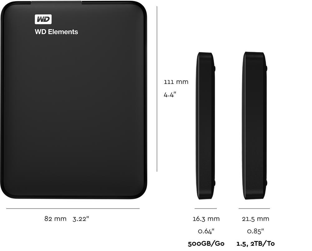 WD Elements Portable | Tech Specs