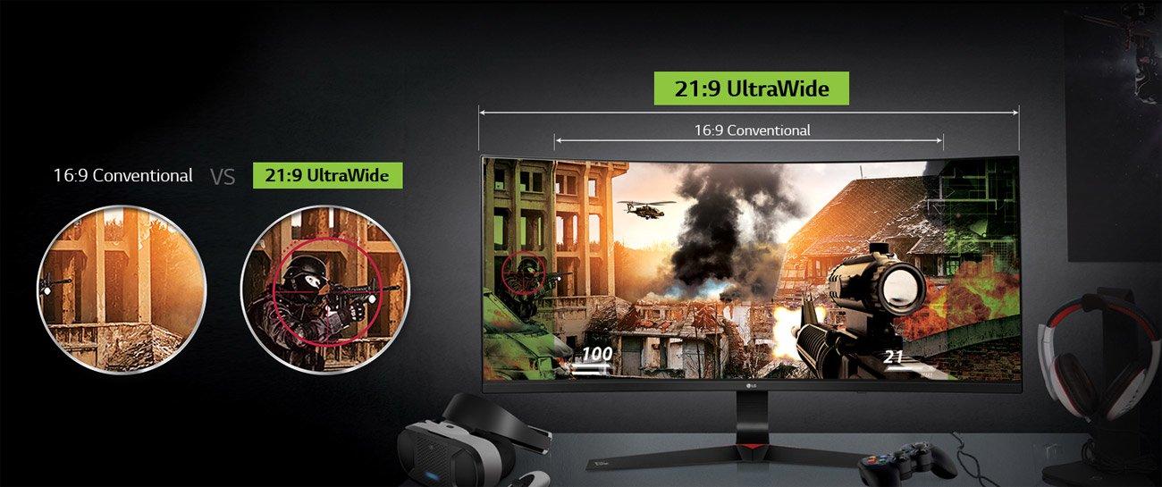LG 34UC89G-B – геймърски 21:9 UltraWide Full HD IPS LED монитор с поддръжка на G-SYNC