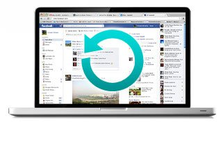 Macbook Pro w Backup Icon