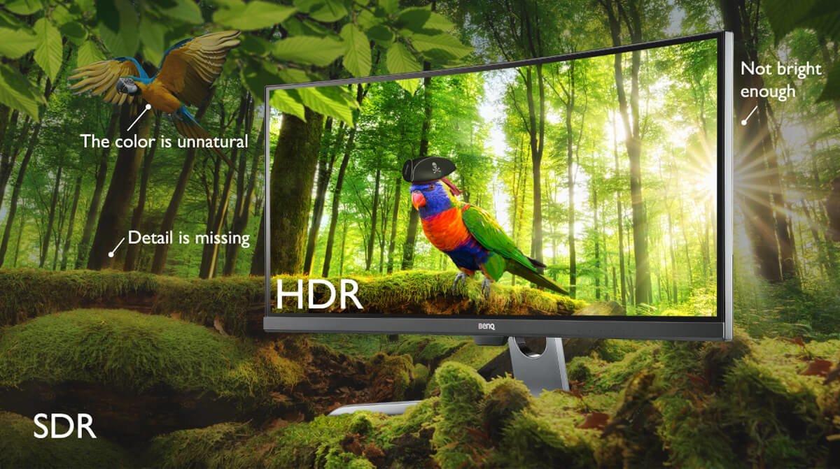 BenQ EX3501R поддръжа технологията HDR