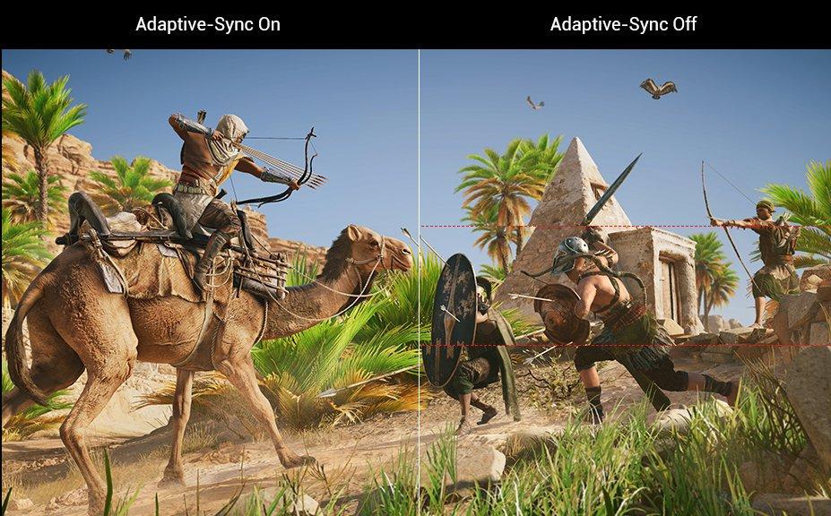 Adaptive-Sync прави геймплея гладък и елеминира нежеланите ефекти