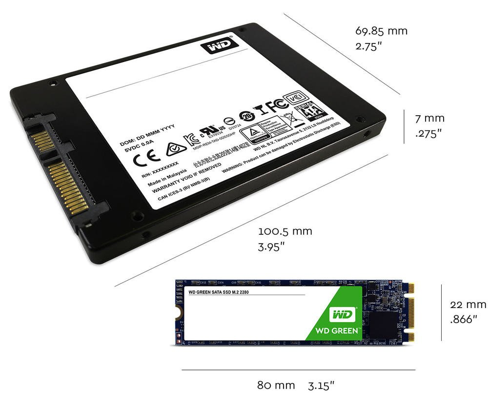 WD Green Solid State Drive | Technical Specifications