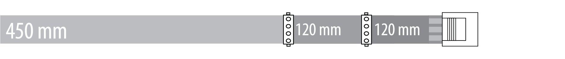 Peripheral 450 + 120 +120 mm