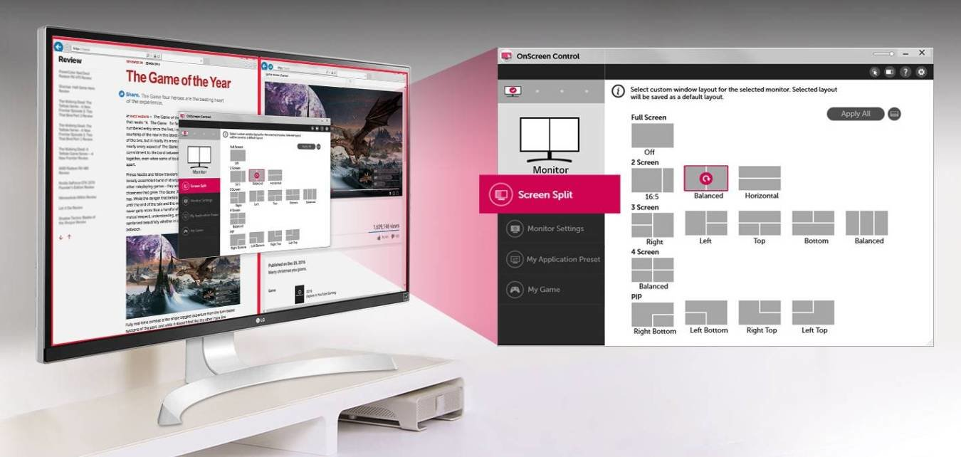 LG Screen Split