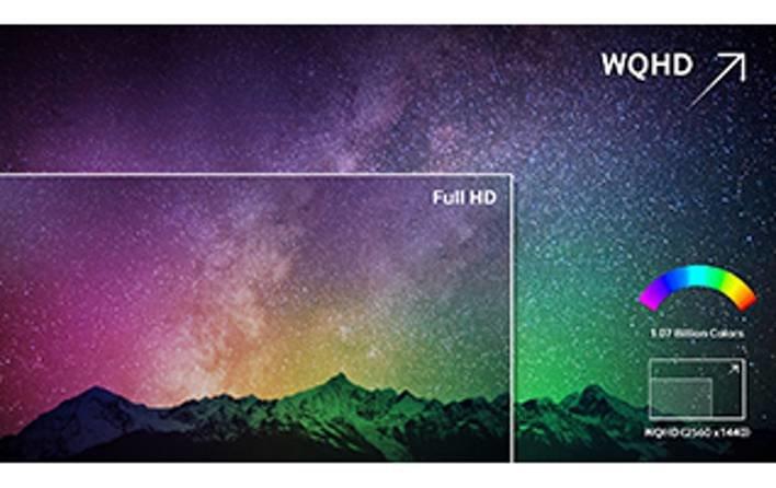 Samsung S32D85KTSR е с WQHD разделителна способност 2560 x 1440