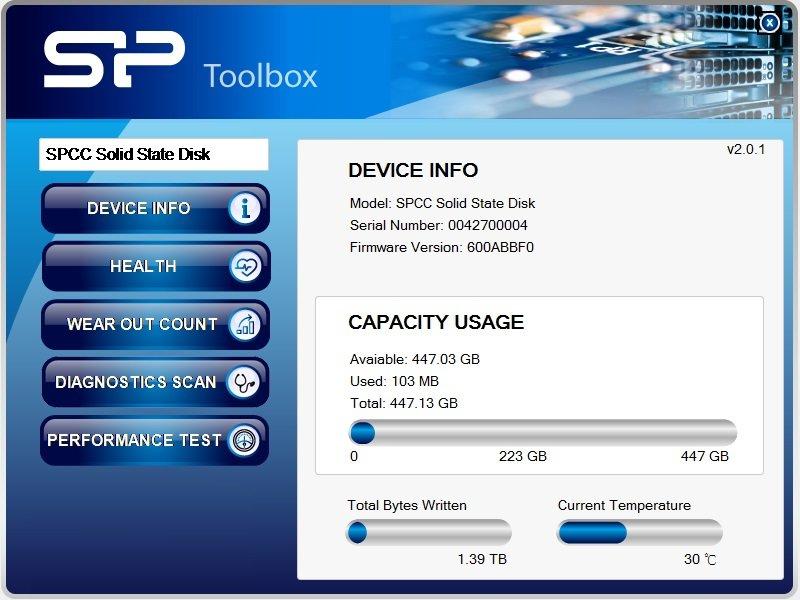 M10 mSATA SP ToolBox Free-download Software