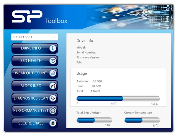 Ace A55 Free-Download of SSD Health Monitor - SP Toolbox
