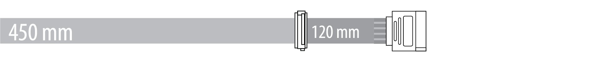 SATA 450 + 120 mm