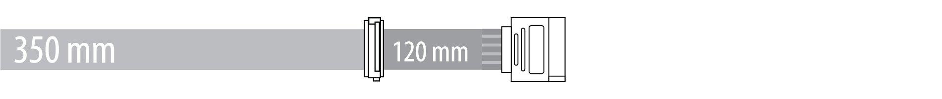 SATA 350 + 120 mm