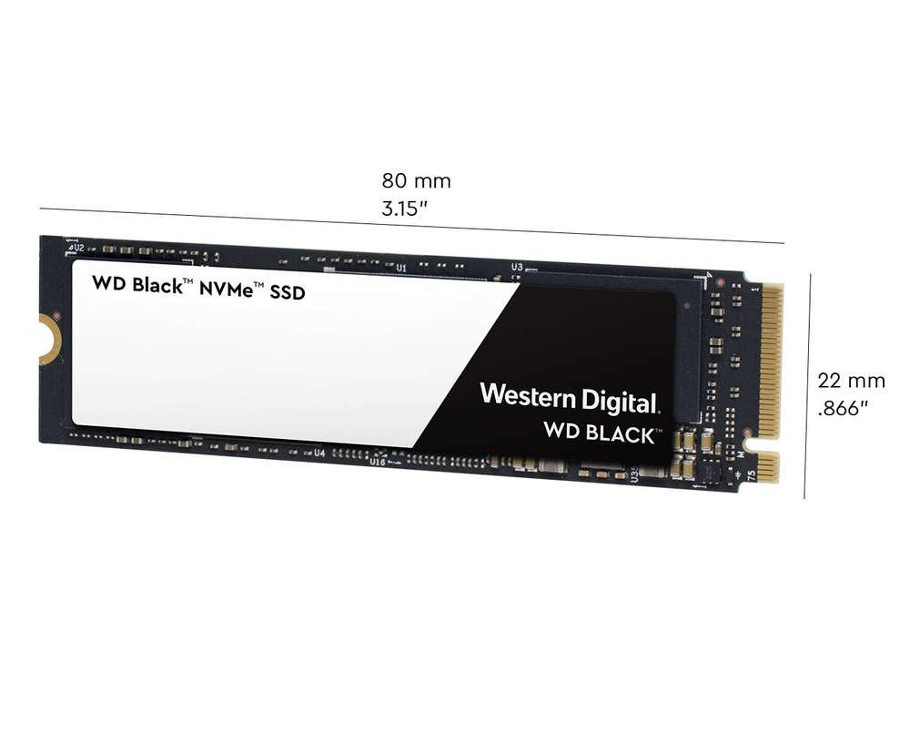 WD Black NVMe SSD Dimensions
