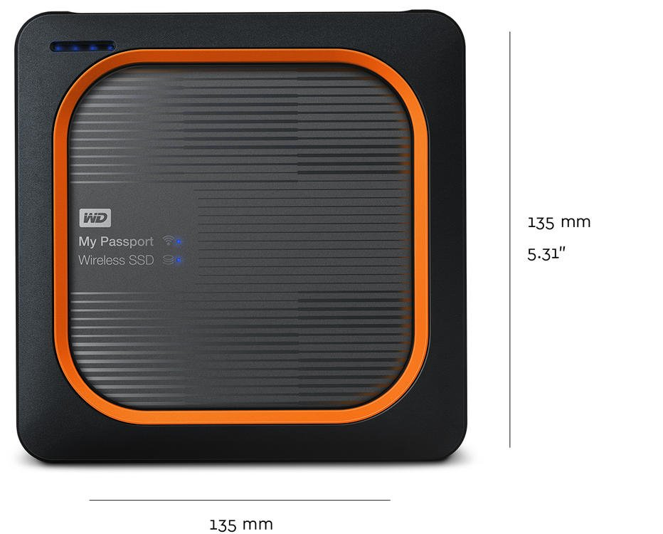My Passport Wireless SSD - Dimensions