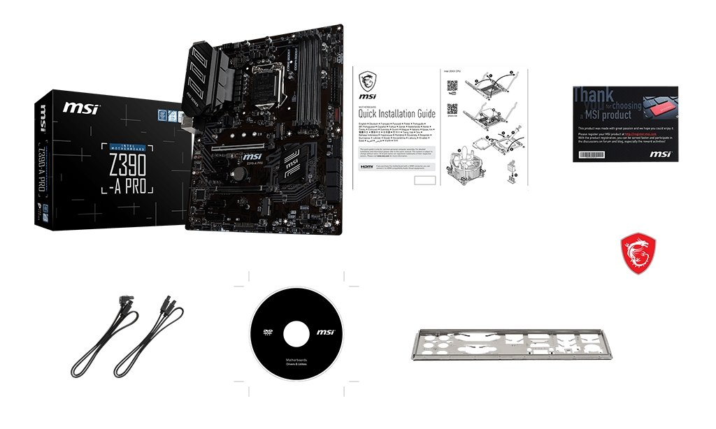 MSI Z390-A PRO box content