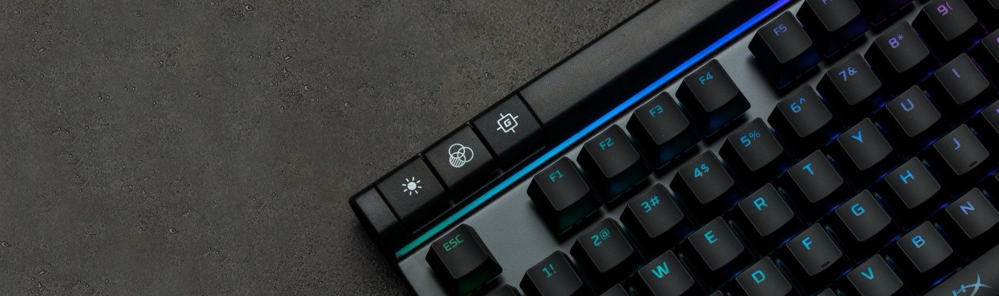 On-board memory for keyboard customisation