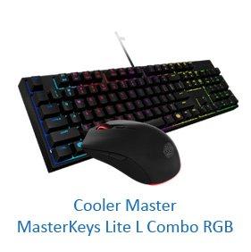 Cooler Master MasterKeys Lite L Combo RGB - комплект геймърски клавиатура и мишка