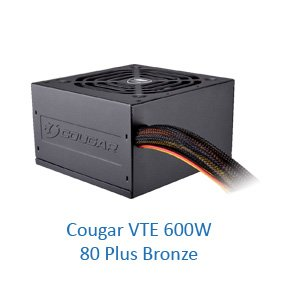 Захранващ блок Cougar VTE 600W, 80 Plus Bronze