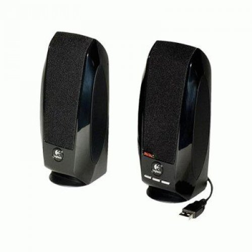 Logitech S150 Black, 2.0, 1,2W (0.6W each), USB (снимка 1)