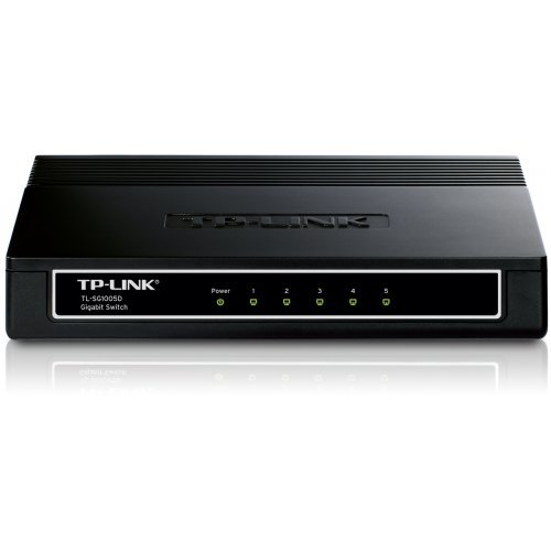 TP-Link TL-SG1005D, 5-Port 10/100/1000Mbps Gigabit Desktop Switch (снимка 1)
