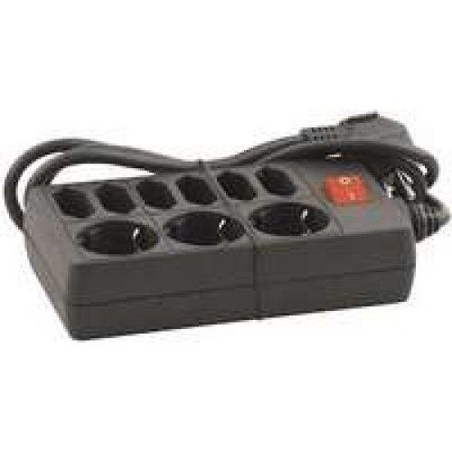 Power Connection-Block Разклонител GNBK03/6A, ключ, 3 + 6 гнезда 1.5м кабел (снимка 1)