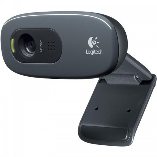 Logitech HD Webcam C270, HD video calling (1280 x 720 pixels) with recommended system, Photos: Up to 3.0 megapixels (software enhanced) (снимка 1)
