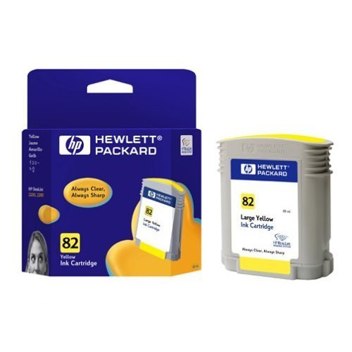 HP 82, Мастилница, Yellow Ink Cartridge (C4913A) (снимка 1)