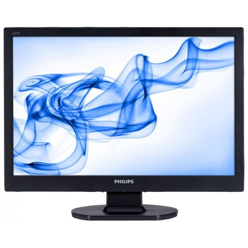 "Монитор Philips 22.0"" 220V1SB, TFT 1680x1050, 16:10, 5ms, 250cd/m2, 20 000:1, 176/170, TCO 03, DVI, Black (снимка 1)"