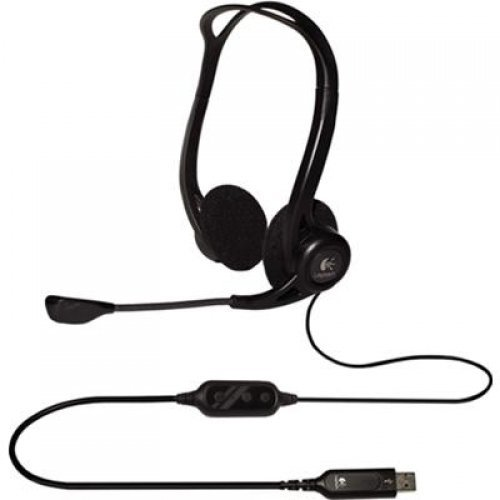 Слушалки Logitech Headset PC 960 USB, OEM, 20Hz-20kHz, 2.4m cable (снимка 1)