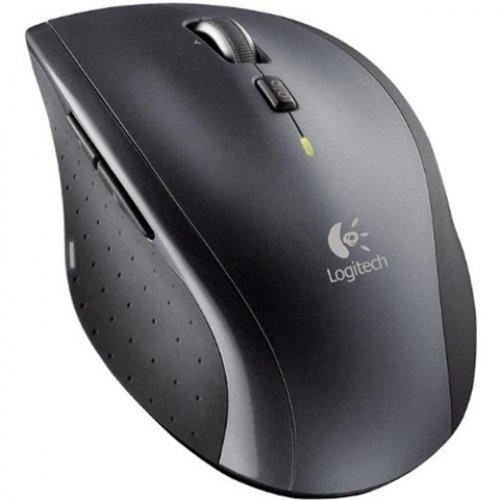 Мишка Logitech M705 Marathon, Laser, Nano Receiver, Wireless, Thumb buttons (снимка 1)