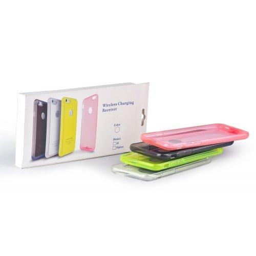 """Безжично зарядно , монтирано в капак за iPhone6 plus 5.5"""" White (снимка 1)"""