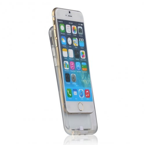 """Wireless Receiver Back Cover iPhone6 Plus 5.5"""", Silicone, White (снимка 1)"""