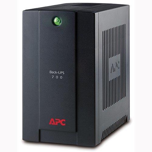 UPS APC BACK-UPS 700VA, 390W/700VA, 230V, Line Interactive, AVR, SCHUKO Sockets, 4x Schuko CEE 7, BX700U-GR (снимка 1)