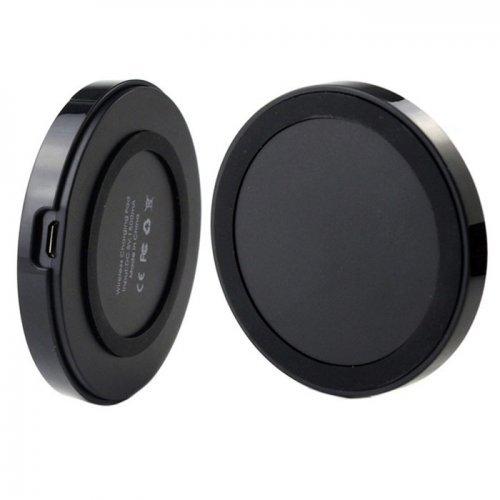 Безжично зарядно за мобилни телефони iPhone 4 5 6 Samsung Galaxy S3 S4 S5 Note2 Nexus LG ...както и други марки, на които може да се добави антена с micro USB, Black (снимка 1)