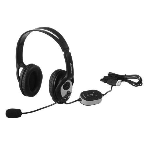 Слушалки Microsoft LifeChat LX-3000, Noise-cancelling Microphone, USB, Cable length - 1.8 m, English, Retail, JUG-00014 (снимка 1)