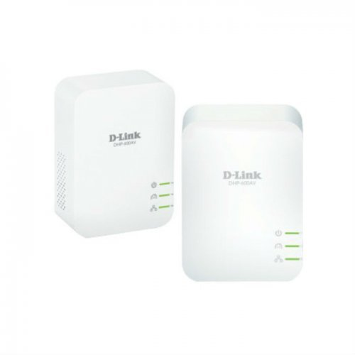 D-Link DHP-601AV, PowerLine AV2 1000 HD Gigabit Starter Kit (снимка 1)