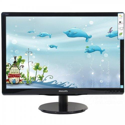 """Монитор Philips 18.5"""" 193V5LSB2/10, 1366x768 LED, 5ms, 200cd/m2, VGA, Black (снимка 1)"""