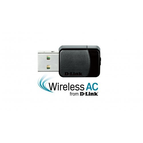 D-Link DWA-171, Wireless AC Dual-Band Nano USB Adapter (снимка 1)
