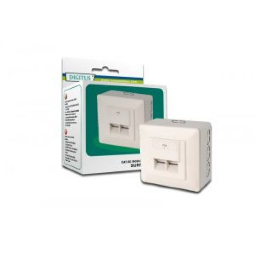 Розетка DN-9002-N 2xRJ45 екранирана (снимка 1)