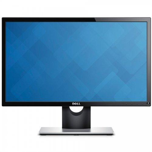 """Монитор Dell 21.5"""" E2216H, 1920x1080, TN LED, 5ms, 250cd/m2, DisplayPort DP, VGA, Черен - Сребриста стойка (снимка 1)"""