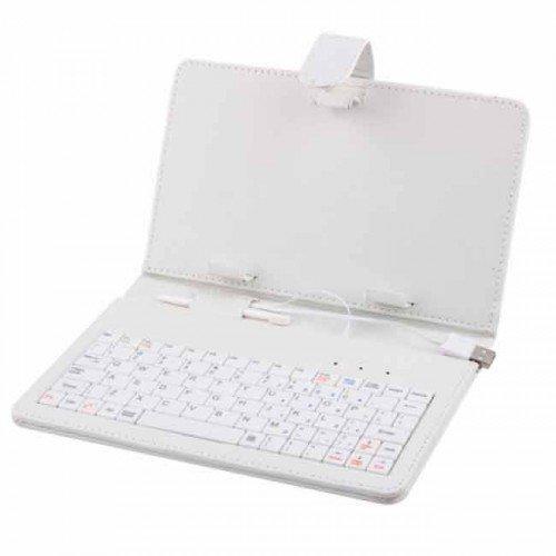 "Клавиатура USB с калъф за таблет 9"" K-02 White (снимка 1)"