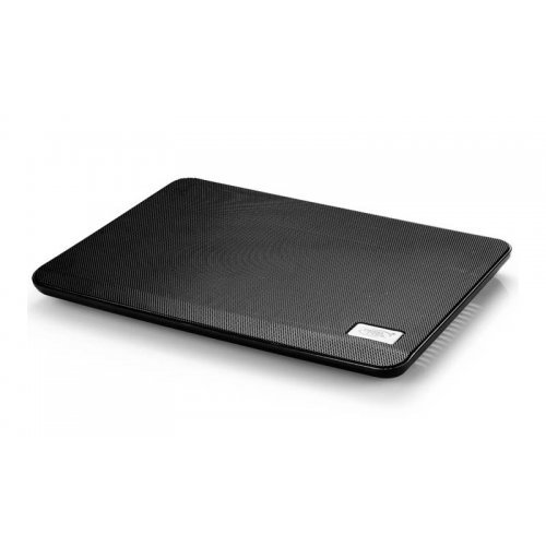 "Notebook Cooling Pad DeepCool N17, for up to 14"", Fan size: 140 х 15 mm, Fan type: Hydro Bearing, Noise level: 21dB(A), 1000±10%RPM, 330 x 250 x 25 mm, Black (снимка 1)"