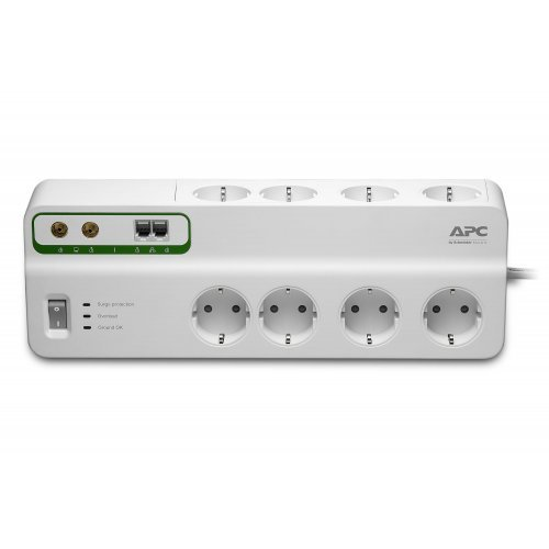 APC PMF83VT-GR Performance SurgeArrest 8 outlets with Phone and Coax Protection, 230V, Germany (снимка 1)