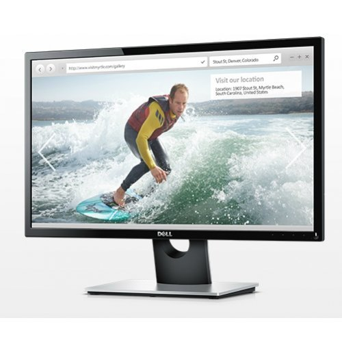"Монитор Dell 23.8"" SE2416H, 1920x1080, IPS LED, 6ms, 250cd/m2, HDMI, VGA, Black and Grey (снимка 1)"