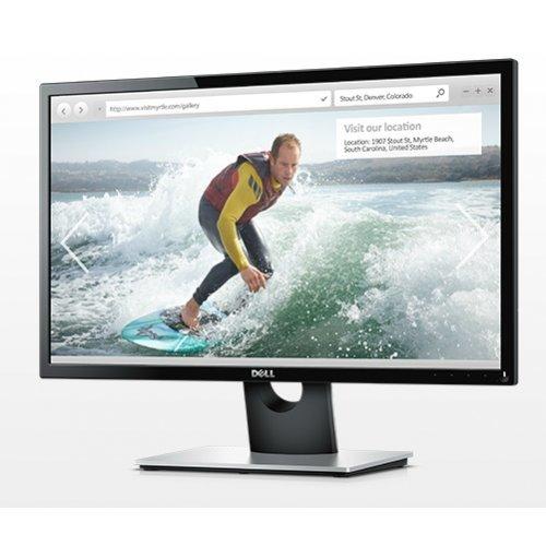"""Монитор Dell 23.8"""" SE2416H, 1920x1080, IPS LED, 6ms, 250cd/m2, HDMI, VGA, Black and Grey (снимка 1)"""