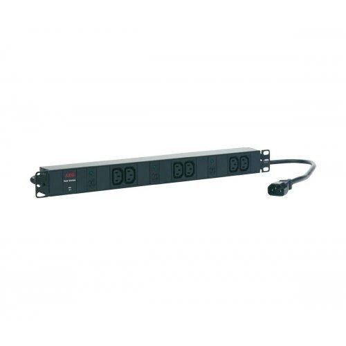 AEG PDU 10-1, 6 x IEC320 C13, 10A, Разклонител за монтаж в шкаф (снимка 1)