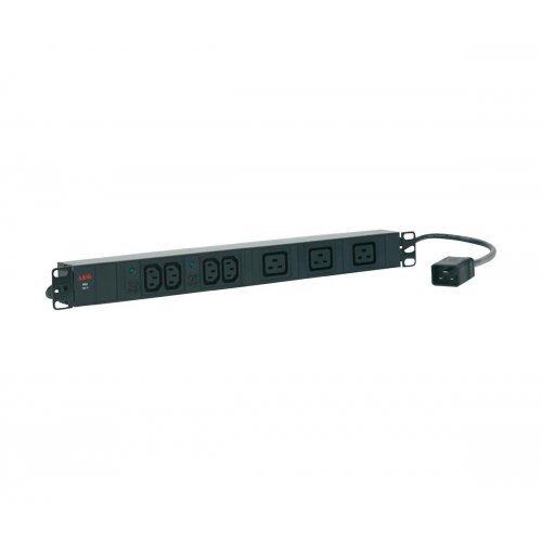AEG PDU 16-1, 4x IEC320 C13 10A, 3x IEC320 C19 16A, Разклонител за монтаж в шкаф (снимка 1)