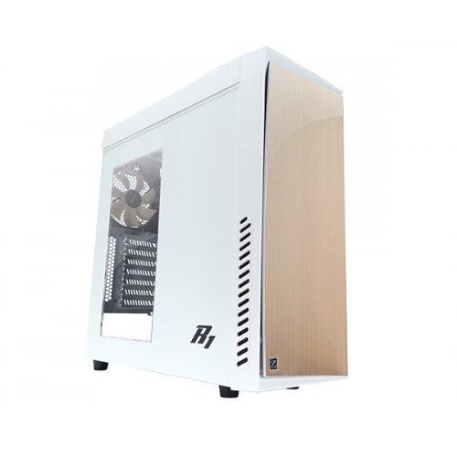 Zalman R1, ATX Mid Tower Case, White (снимка 1)