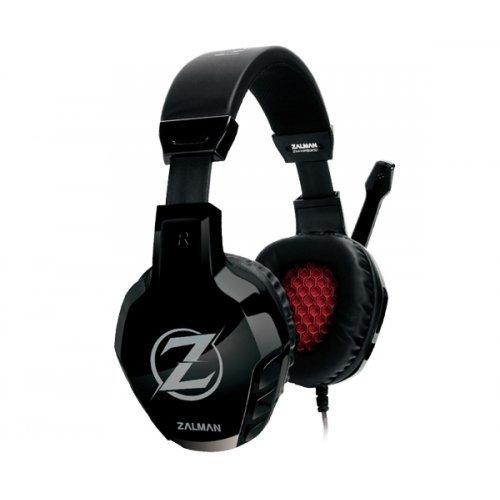 Слушалки Zalman ZM-HPS300 Gaming Headphones with Microphone, 20Hz - 20kHz, 32 Ohm, 110dB ± 3dB, Microphone sensitivity -54dB ± 3 dB, 2m cable with 2 х 3.5mm stereo jack, Black (снимка 1)