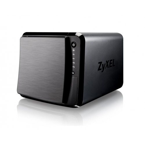 "ZyXEL NAS542, 4-bay Dual Core Personal Cloud Storage, Dual Core CPU 1.2GHz, 1GB DDR3, 4 SATA 2 2.5""/3.5"" HDD, RAID 0/1/5/6/10, JBOD, Hot Swap, 2x 1Gbps LAN, 3x USB3.0, SD Slot (снимка 1)"