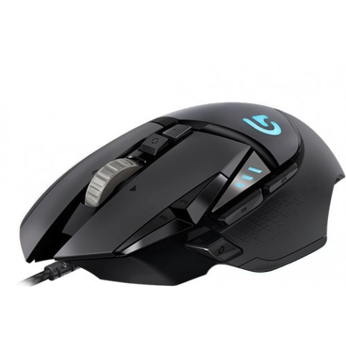 Мишка Logitech G502 Proteus Spectrum RGB Tunable Gaming Mouse, 200 – 12000 dpi, Dual-mode, gaming-grade scroll wheel, USB report rate: 1000 Hz (1ms), 32 bit Microprocessor, USB (снимка 1)