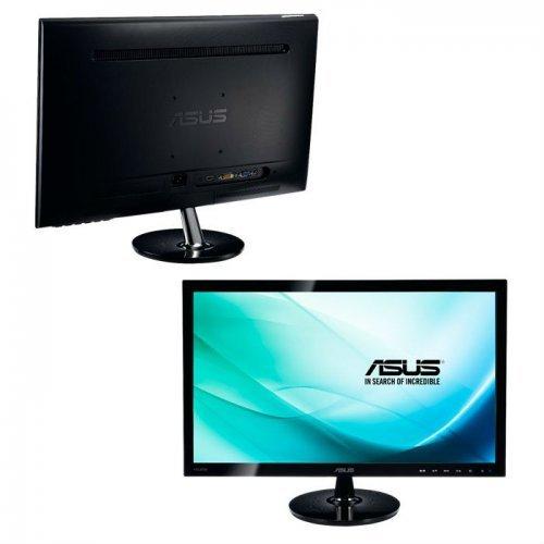 "Монитор Asus 24"" VS248HR, 1920x1080, 250cd/m, 1ms, 170°/160°, VGA, DVI, HDMI, Black (снимка 1)"